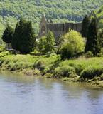river wye tintern abbey monmounthshire wales poster