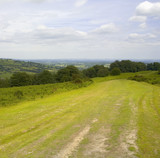 view from the offas dyke long distance footpath he poster