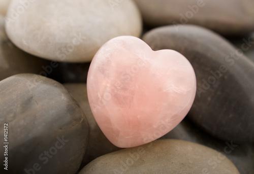 Poster rose quartz heart