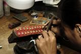 thailand, chiang mai: jewel maker poster