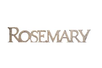 isolated rosemary sign