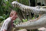 crocodile versus man poster