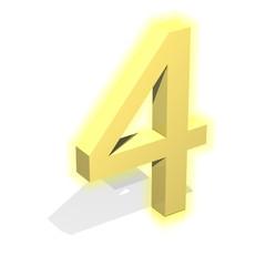3d gold four