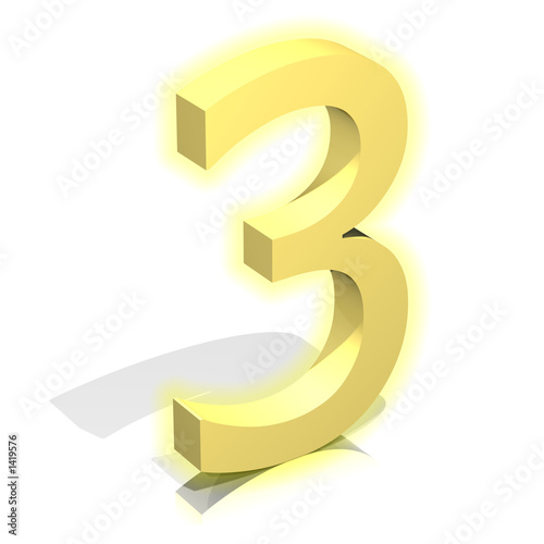 3d gold three