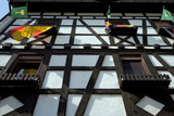 half timbered house poster