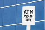 atm parking only poster