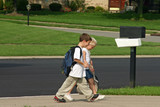 children getting home from school