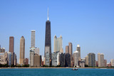 chicago skyline from lake michigan - Fine Art prints