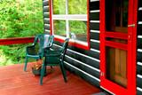 log cabin deck poster