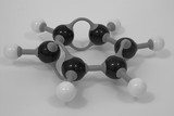 benzene molecular model wide angle poster