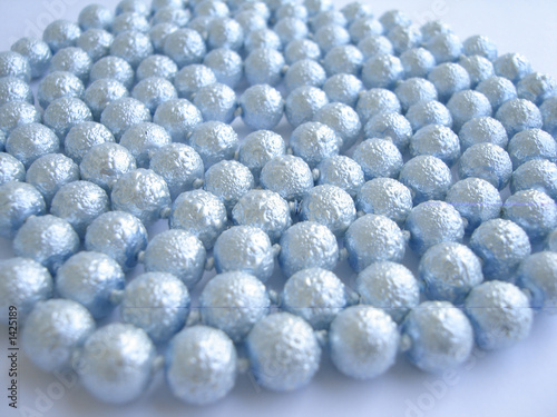 many blue beads for background
