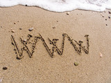 www on sand poster