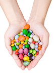 woman's hands with sweets