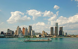 city skyline and waterfront daytime poster