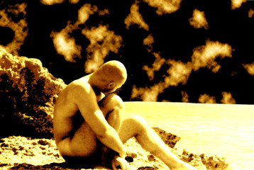 body in sepia