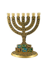 hanukkah menorah - isolated