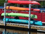 rack of kayaks poster