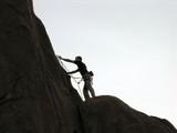 a rock climber poster