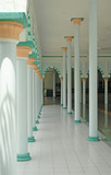 stock photo of interior of a mosque poster
