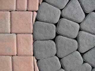 two different kinds block paving