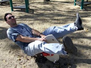 man at park