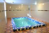 pool in sauna poster