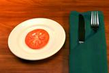 single tomato slice poster