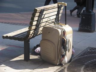 sidewalk suitcase