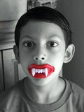 boy with scary teeth poster