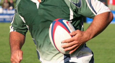 rugby union action