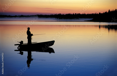 canvas print picture fishing