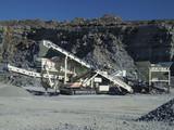 quarry conveyor belt machine poster