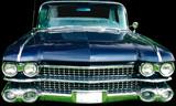 vintage luxury automobile poster