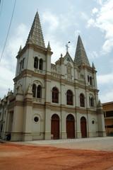 india, cochin: santa cruz cathedral
