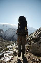 trek in the cordilleras mountain