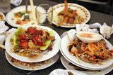 left dishes in restaurant poster