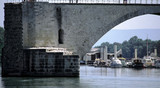 river rhone bridge avignon provence france poster