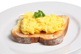 scrambled egg on toast poster