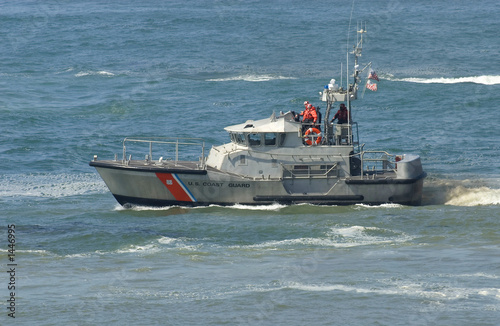 us coast guard boat at rescus operation - 1446995