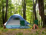 woodland campsite poster