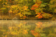 canvas print picture autumn pond