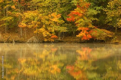 Leinwanddruck Bild autumn pond