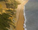 beach, sea, shore, coast, arial, cliff, water poster