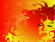 fiery woman backgroundfiery woman background