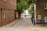 cobbled street in nottingham poster