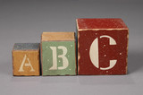 abc letter blocks poster