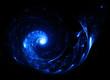 blue lighting twirl