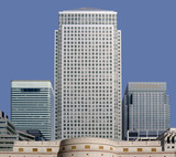 office blocks canary wharf docklands london poster