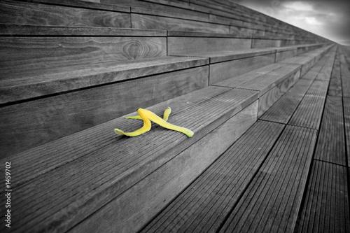 Leinwanddruck Bild peau de banane