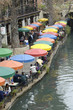 riverwalk, san antonio, colorful umbrellas 4